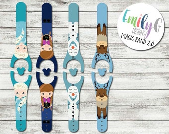 Ice Princess & Queen Disney Magic Band 1.0 or 2.0 Decal or Skin | Custom Waterproof MagicBand Wrap | MagicBand Decal | RTS Ready To Ship