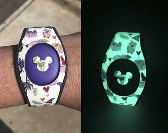 Glow in the Dark Magic Band Decal | Character Collage MagicBand 2 Decal | Magic Band 2.0 Skin | RTS Ready To Ship
