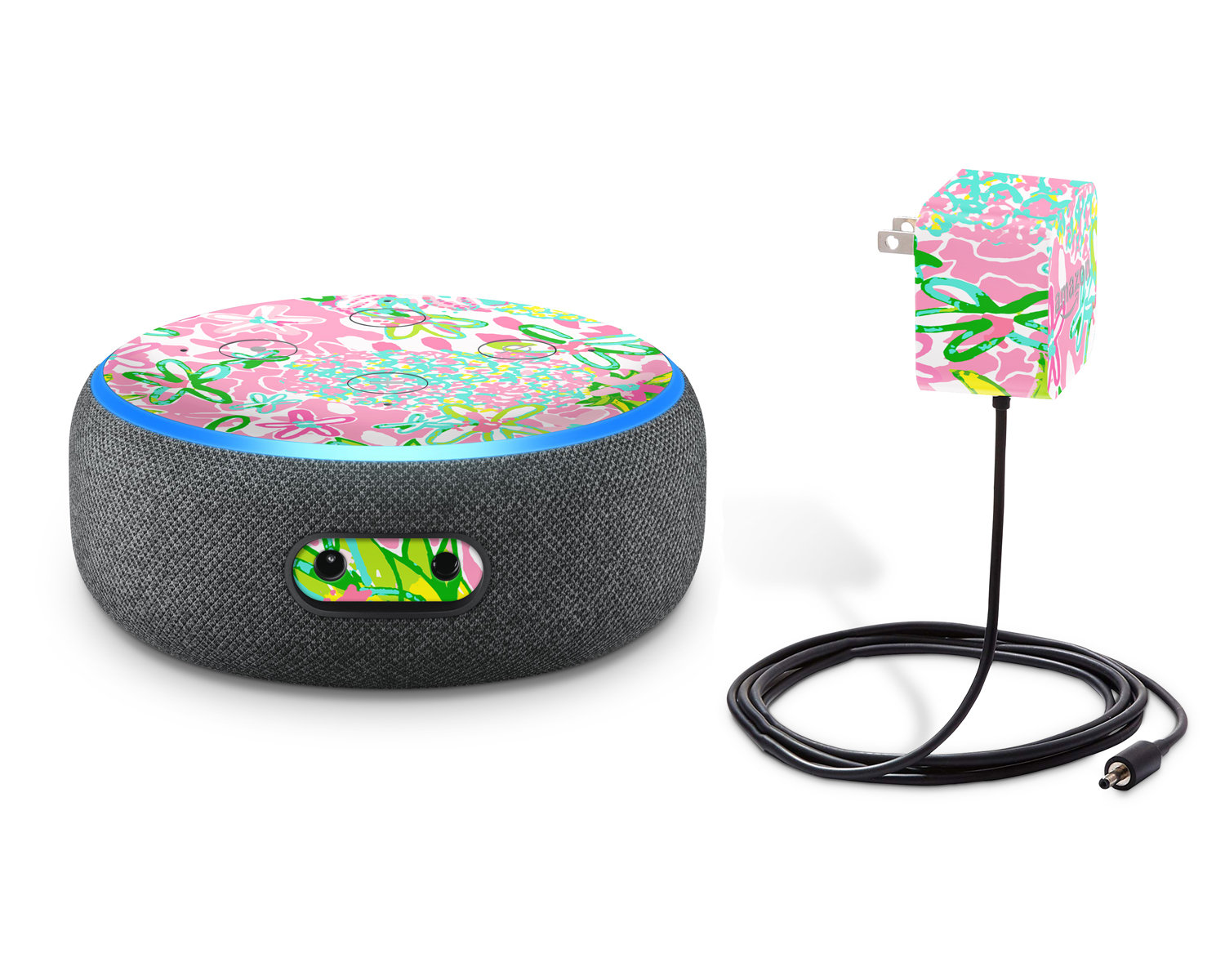 Preppy Pineapple Decal for Amazon Echo Dot 3rd Generation | Alexa skin  sticker | Glitter or Glow In The Dark Vinyl | RTS Ready To Ship