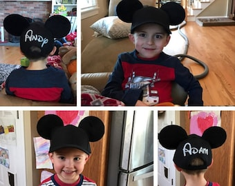 38348ac54ff5d Mickey Mouse Inspired Mouse Ears Baseball Cap!