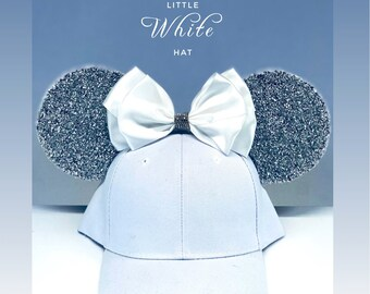 b2eac470ad8 All White Sparkly Mickey Mouse Baseball Hat