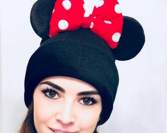 17f20e5807262 Warm Minnie Beanie! and Mickey Mouse Beanie With Ears