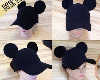 a31a766d9f9 Adult Mickey Mouse Ears Baseball Cap!