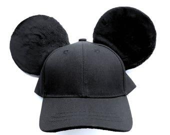Mickey Mouse Inspired Mouse Ears Baseball Cap! 7aa54e8a75bd