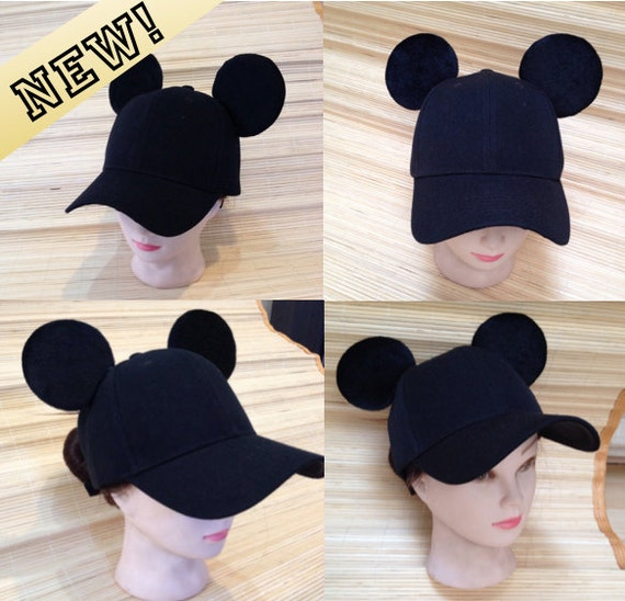Adult Mickey Mouse Ears Baseball Cap  fc3823edc30