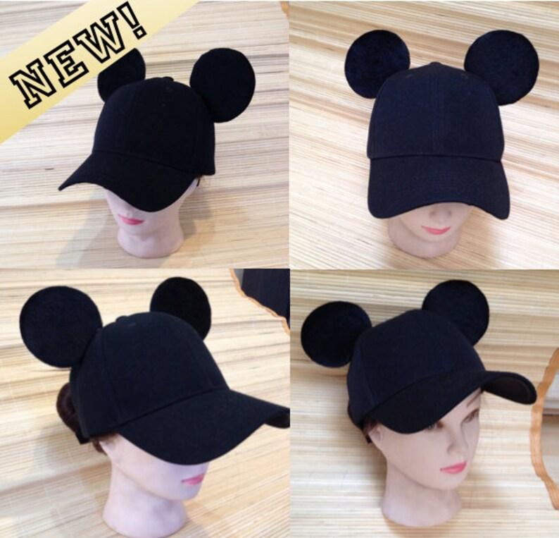 9dae35a7a4b Adult Mickey Mouse Ears Baseball Cap