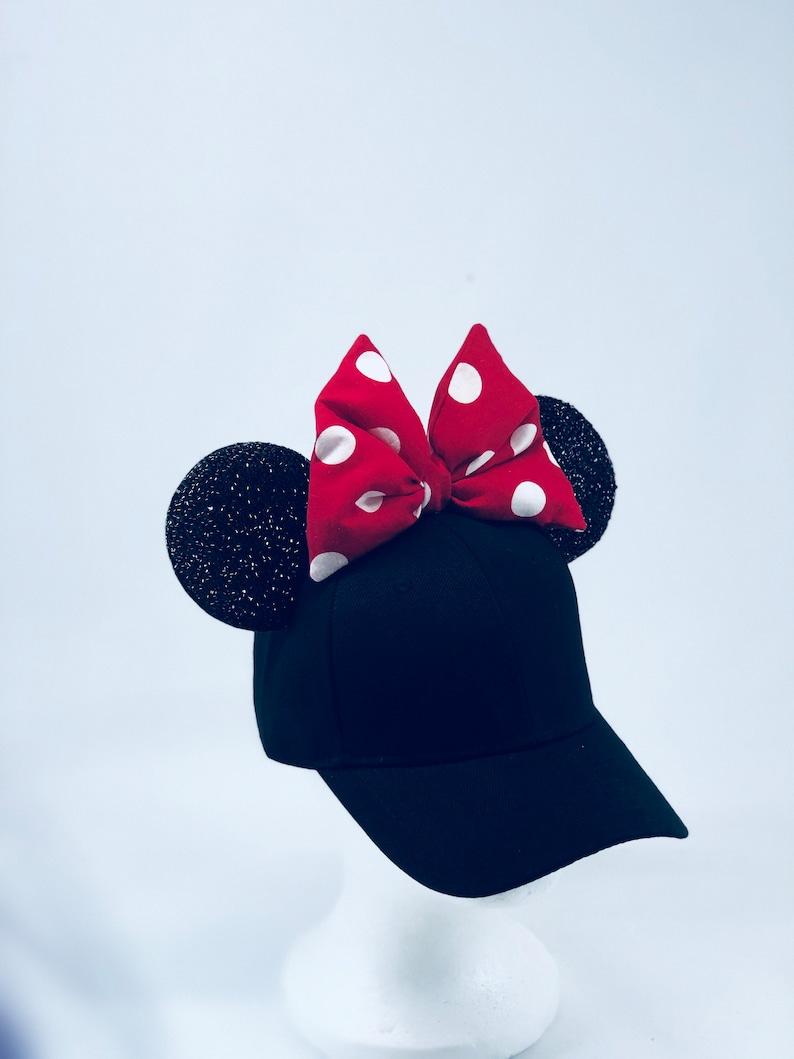 86458b9c9c9 Ready to Ship JUNIOR Minnie Mouse Ears Baseball Cap Minnie