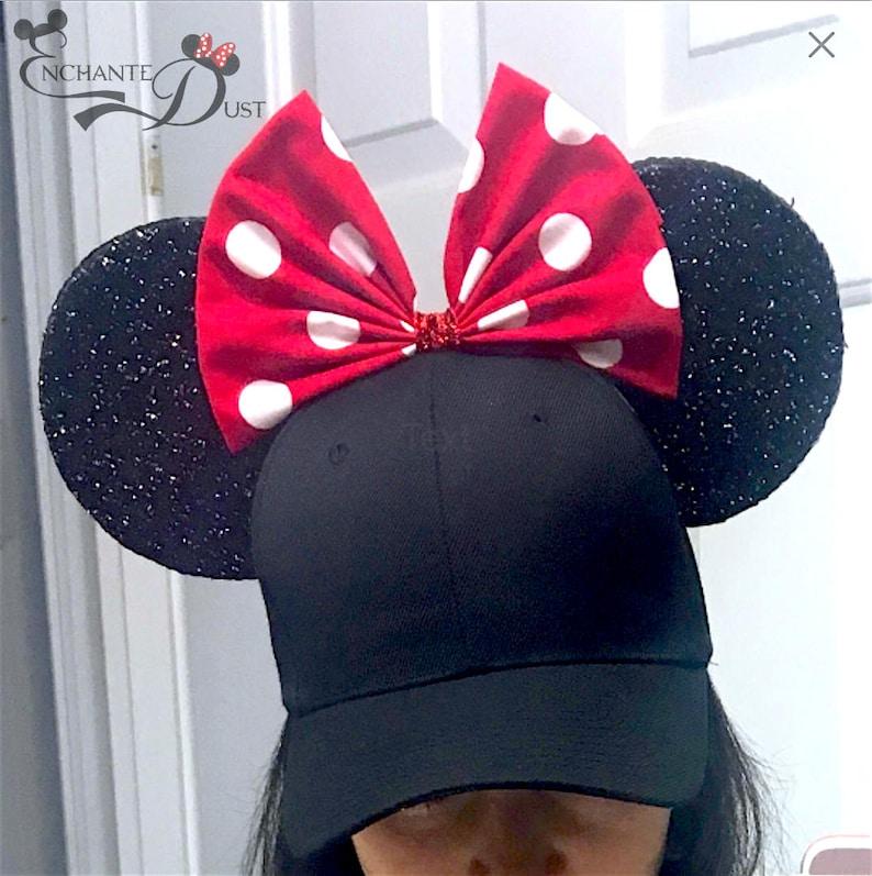fa88b9e67cc1f Minnie Mouse Ears Baseball Cap Minnie Hat Mickey Mouse