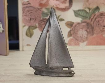Miniature Dollhouse FAIRY GARDEN ~ Mini LAKE Fishing SEA Boat Captain Fisherman