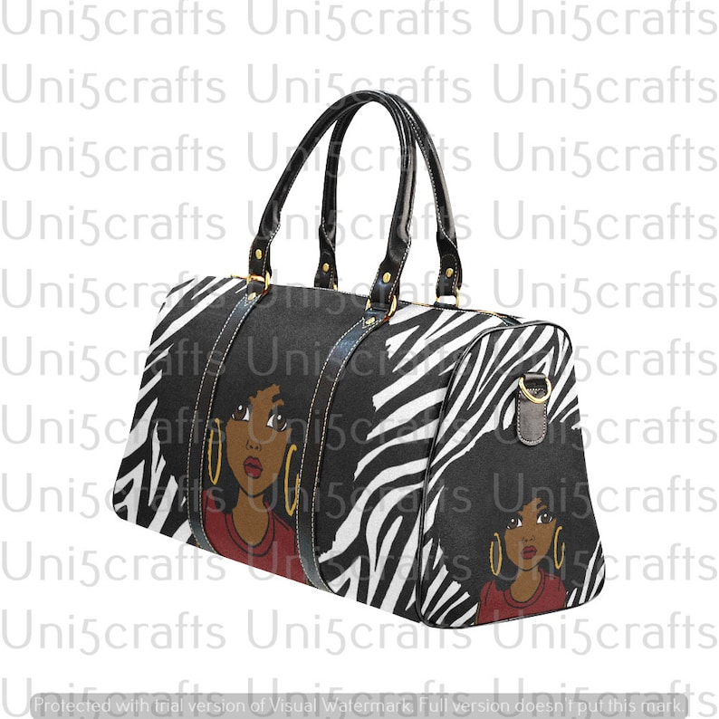 494c227f5e0a Say what zebra prints travel bag, black travel bag, cute girl bag, colorful  travel bags Afrocentric duffel bag