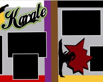 "Scrapbook 2 Page Kit ""Karate, Female"""