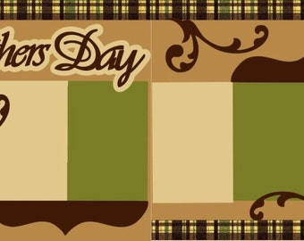 """Scrapbook 2 Page Kit """"Father's Day"""""""