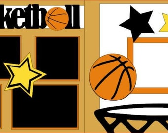 "Scrapbook 2 Page Kit ""Basketball"""