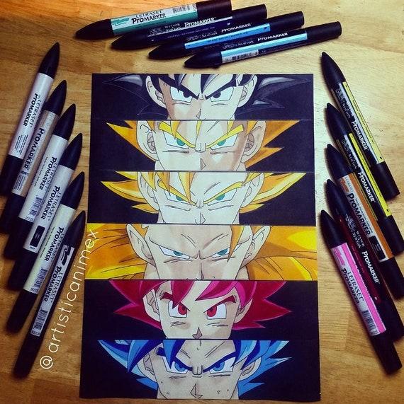 Anime Eyes Goku Dragonball Z Print Etsy