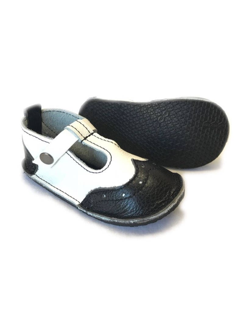e5190a357e248 Wingtip t-straps leather shoes, vintage saddle Baby shoes, moccasins with  hard rubber sole