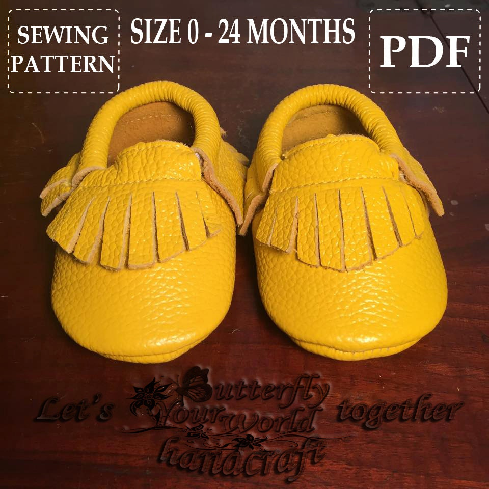 Baby Moccasins Sewing Pattern Easy and Simple Steps PDF