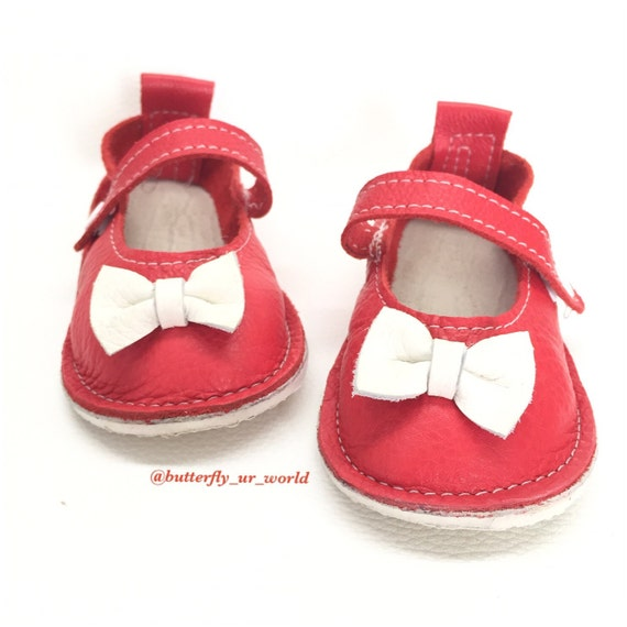 eadffcfa9a Red Mary Janes Genuine Leather Baby shoes Girl Sandals | Etsy