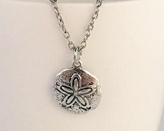 Sand dollar pendant necklace, beach pendant necklace, beach necklace, sand dollar necklace, necklace beach, ocean necklace