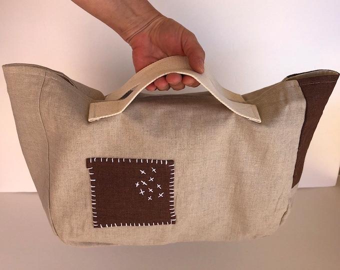 Featured listing image: Tote Bag, project bag, blanket knitting bag, sweater knitting bag, yarn bag, knitting bag, gift for knitter, knitter gifts, bag