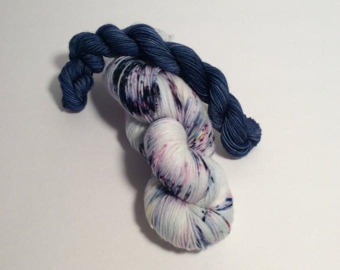 Featured listing image: Sock Yarn Set, speckled yarn, mini skeins, wool nylon yarn, wool yarn, sock yarn, shawl yarn, yarn, hand dyed yarn,