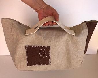 Tote Bag, project bag, blanket knitting bag, sweater knitting bag, yarn bag, knitting bag, gift for knitter, knitter gifts, bag