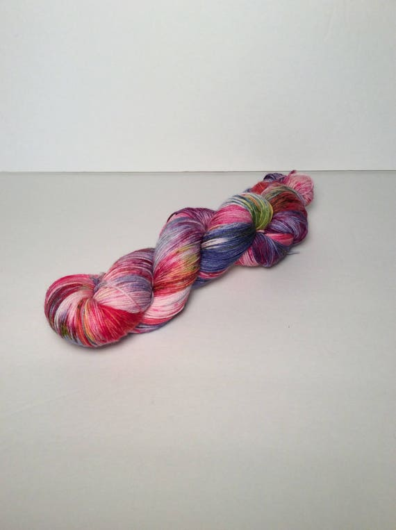Hand Dyed Fingering Yarn, red blue yarn, yarn, wool yarn, wool nylon yarn, sock yarn, shawl yarn, sweater yarn, hand dyed yarn