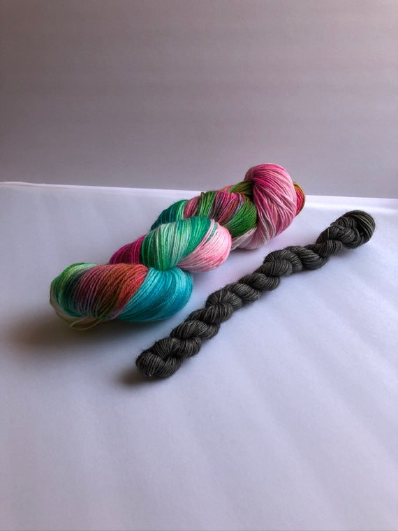 Sock Set, sock yarn, wool yarn, mini skeins, fingering yarn, sock knitting, wool nylon yarn, hand dyed sock yarn, yarns