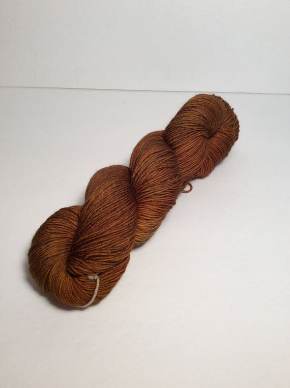 Hand Dyed Fingering Yarn, brown yarn, yarn, tonal yarn, sock yarn, shawl yarn, sweater yarn, wool yarn, wool nylon yarn, hand dyed yarn
