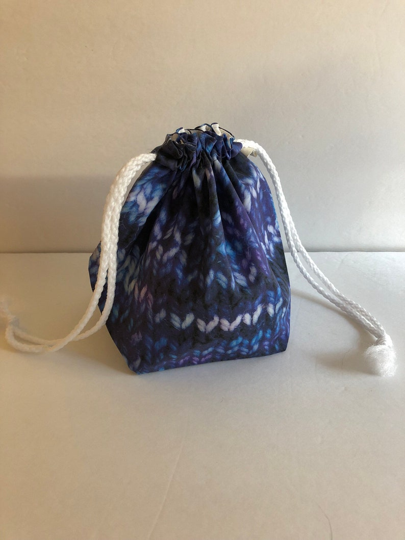 Crochet Accessories Gifts for Knitters Knitting Bag Drawstring Project Bag