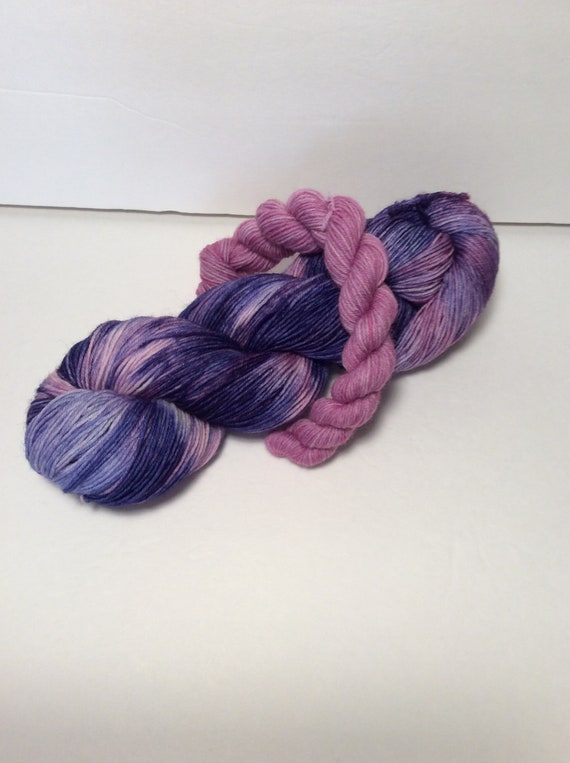 Sock Set, blue yarn, purple yarn, wool nylon yarn, wool yarn, yarn, sock knitting, fingering yarn, hand dyed yarn, sock yarn