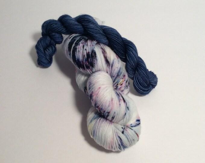 Sock Yarn Set, speckled yarn, mini skeins, wool nylon yarn, wool yarn, sock yarn, shawl yarn, yarn, hand dyed yarn,