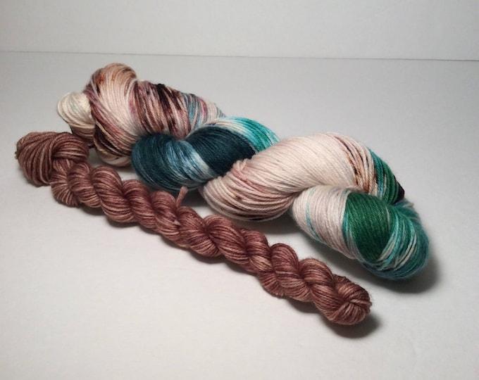 Sock Set, sock yarn, yarn, fingering yarn, mini skeins, wool yarn, wool nylon yarn, hand dyed yarn, sock knitting