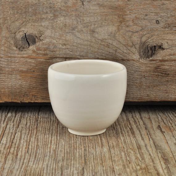 White Glossy Handmade Porcelain Espresso / Tea Cup