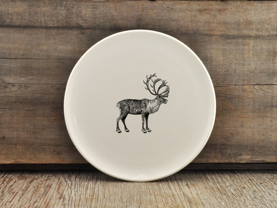 CUSTOM MADE 7.5 inch porcelain plate with wild animal drawing by Cindy Labrecque, Canadian Wildlife collection