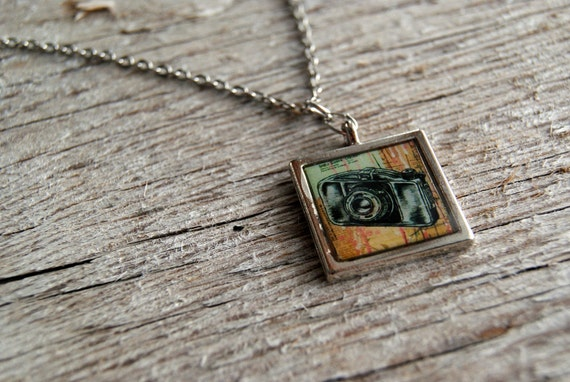 VINTAGE CAMERAS two-sided pendant
