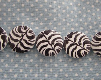 Zebra Stripe Buttons