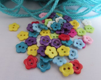 10mm Flower Shaped Buttons