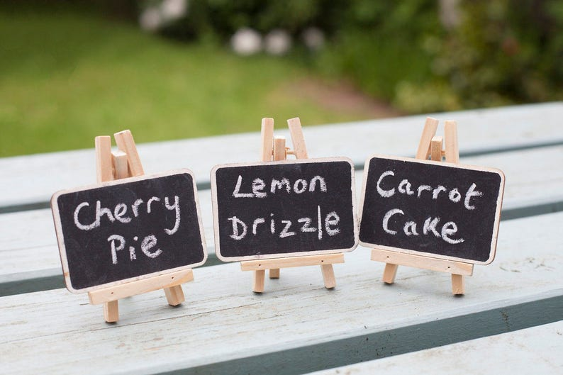 Pack of 3 Mini Chalkboards on Easels image 0