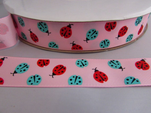 5m 10m and 25m 25mm Grosgrain Black and White Horizontal Stripe Ribbon in 1m