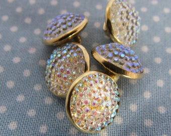 Gold and Sparkly Shirt Buttons