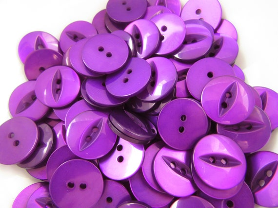 11mm or 19mm White Fisheye Hemline Buttons 2 Hole Sew on Packs of 10 20 or 50