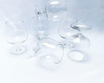 Vintage set of 6x brandy glasses