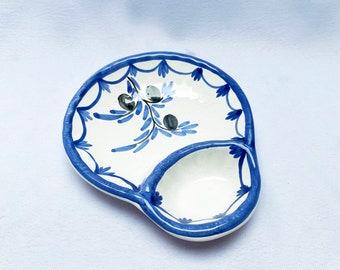 Vintage hand-painted tapas dish