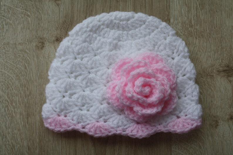 5bb8714ce0a Crochet baby girl beanie baby hat crochet newborn hat baby