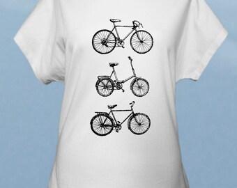 Bikes - hand screenprinted women t-shirt