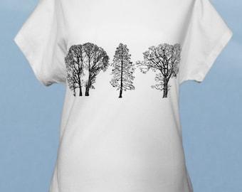 Trees - hand screenprinted women t-shirt