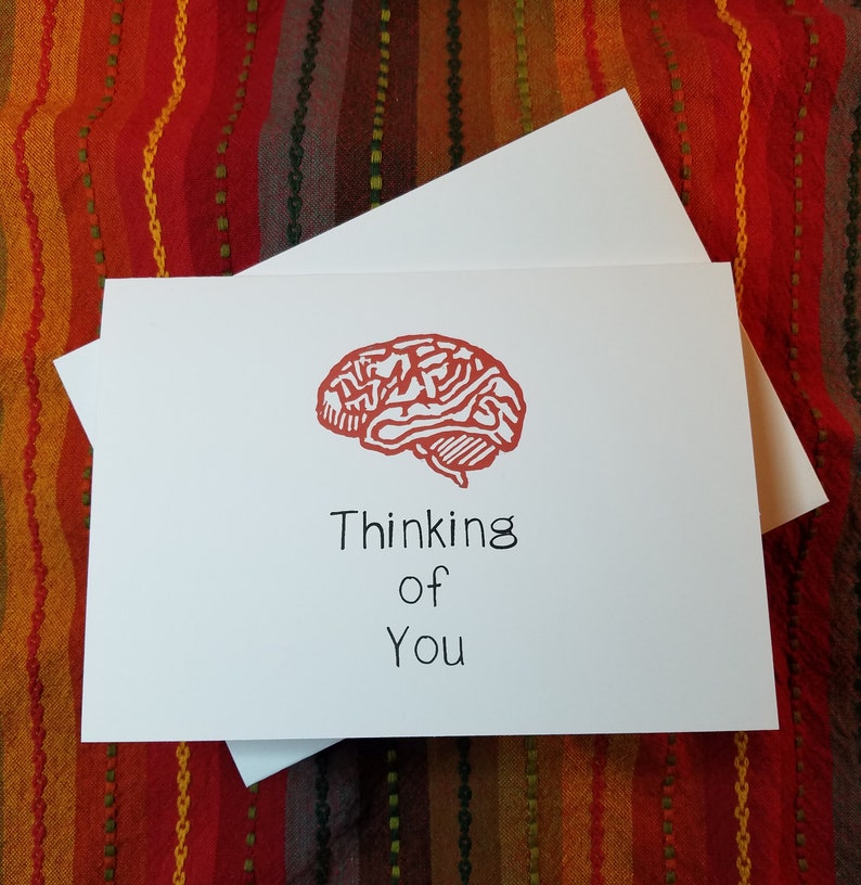 Thinking of You  7 x 5 Greeting Card Pack of 5 with image 0