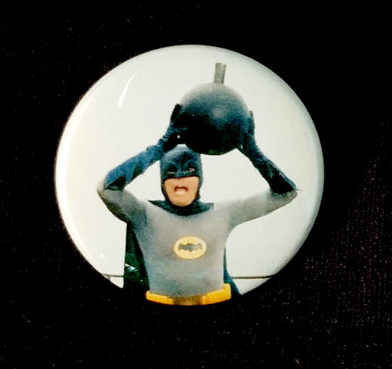 Adam West Batman  1.5 Inch Pinback Button image 0