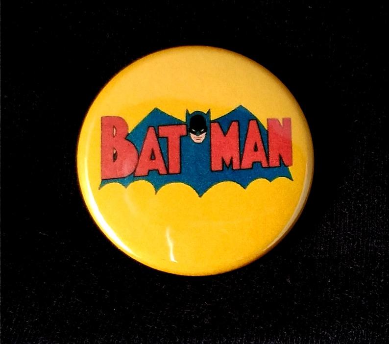 Batman 1950's Logo  1.5 Inch Pin Back Button image 0