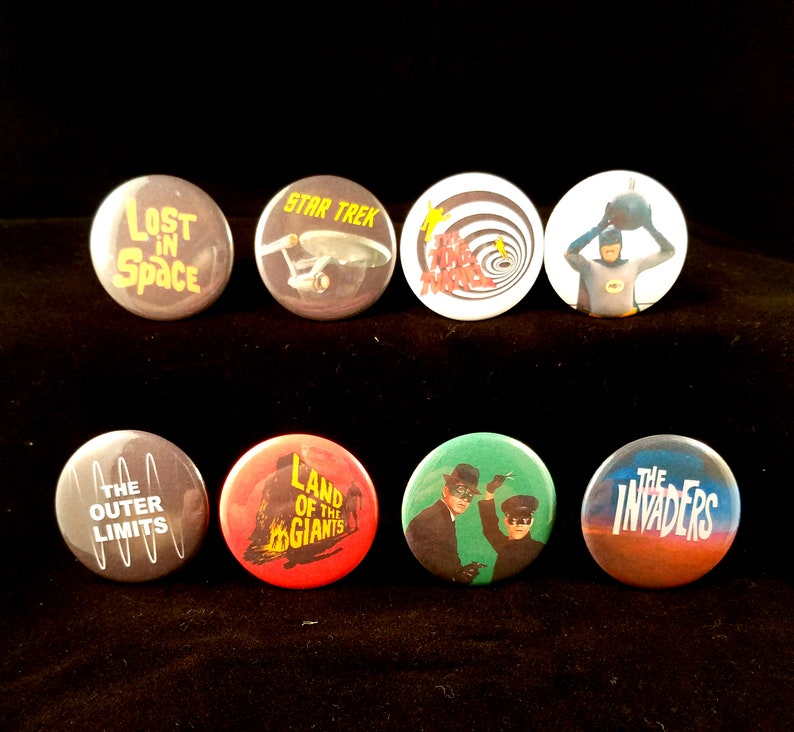 Sixties Sci-Fi Television   Set of Eight Pinback Buttons  image 0